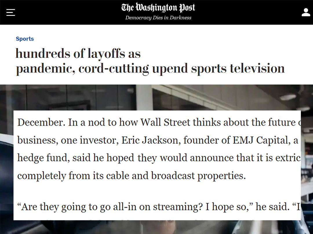 Washington Post Article - Eric Jackson - November 2020