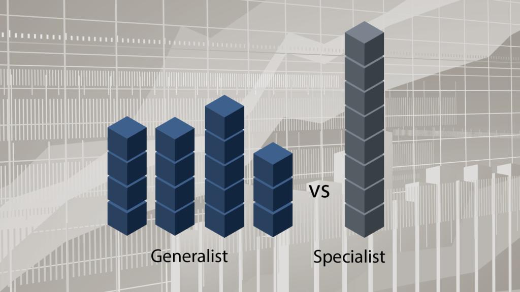 EMJ Capital – Generalist Approach – Generalist vs. Specialist Diagram